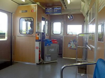 いすみ鉄道の運転席付近
