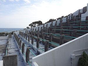竹崎展望台の屋上
