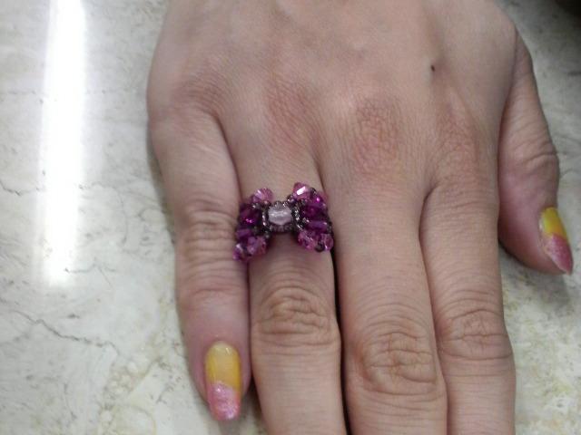 ともみちゃんの手作り指輪