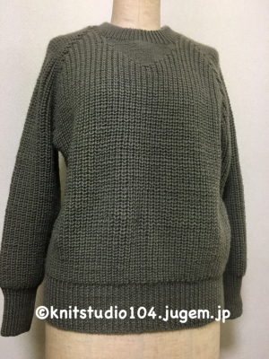 イギリスゴム編みセーター