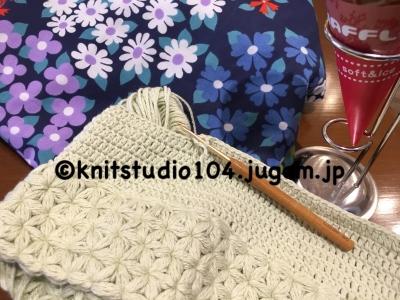 リフ編み帽子