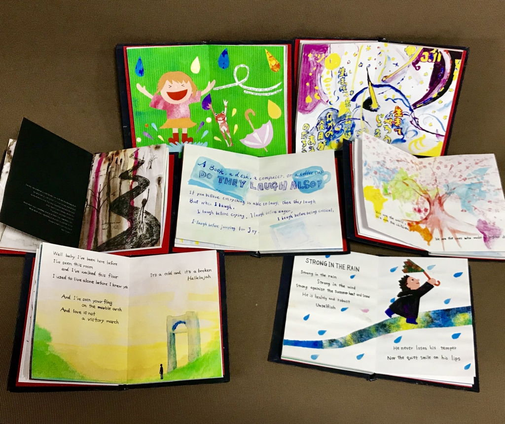 the poems and illustrations of arty cafe art n english studio