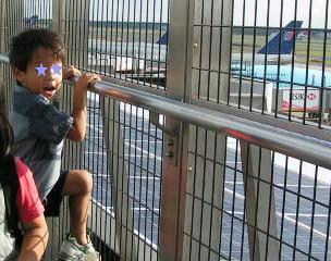 成田空港の展望デッキです