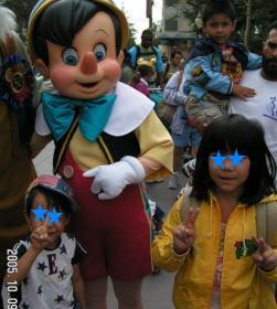 ピノキオと記念撮影