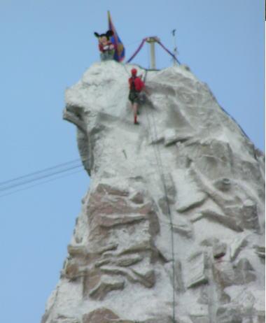 ミッキーの登頂