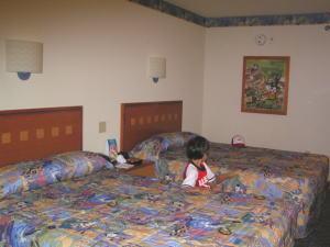 ディズニーワールド:ポップ・センチュリー・リゾートの室内