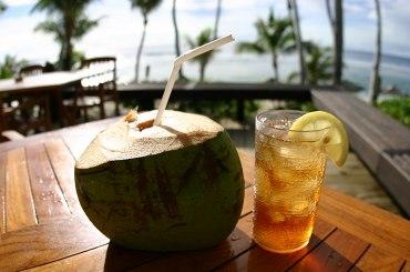 ココ・パーム・ガーデン・ビーチはアイスティー無料