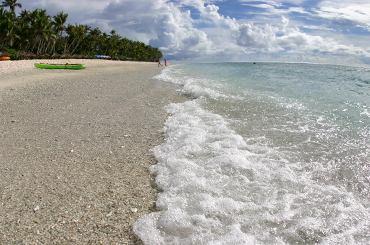 ココ・パーム・ガーデンのきれいなビーチ