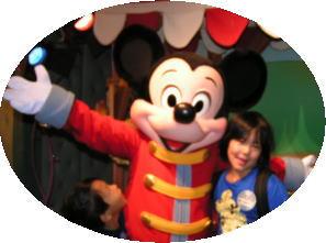 ミッキーマウスにサインをもらいました