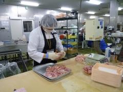 職場体験 鶏肉加工