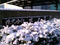 雪の日会社正門