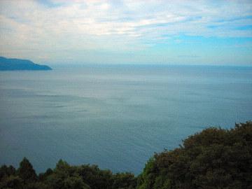 河野道の駅から望む日本海