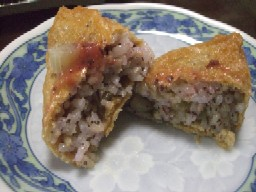 ふき梅稲荷寿司
