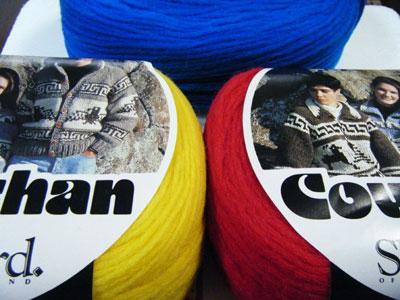 カウチン用毛糸