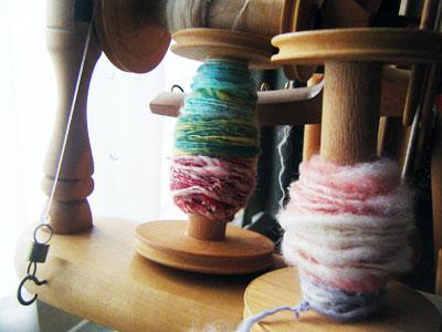 紡いだ糸2