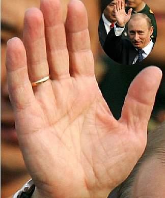 プーチンの手相