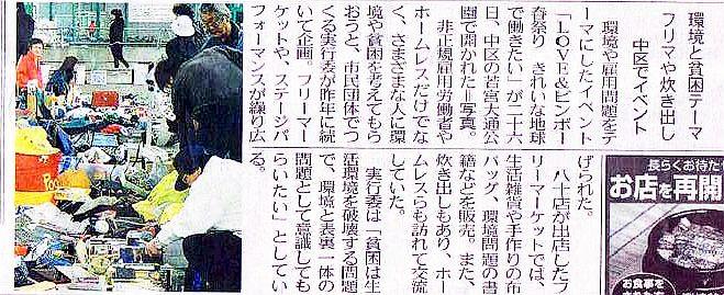 アースデイあいち・中日新聞20090427
