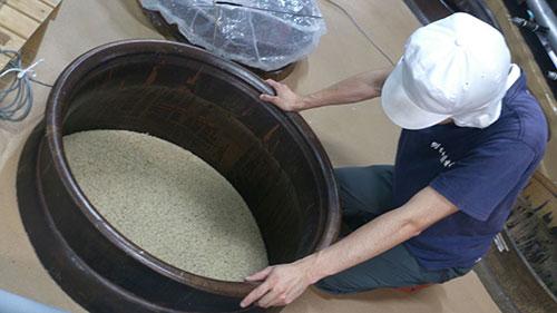 麦の仕込み