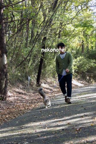 那須で散歩中のmoka