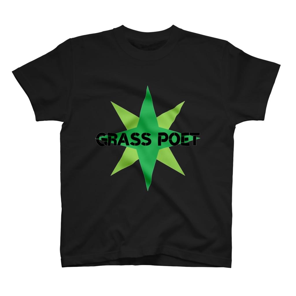 Grass Poet TEE前(BLACK)