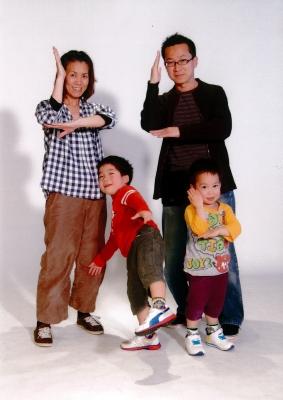 家族写真deウルトラマン