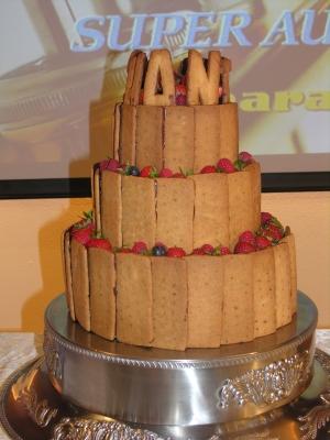 クッキーのウェディングケーキ