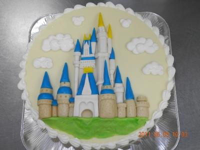 大好きなシンデレラ城、マジパンのケーキ