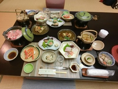 芦原温泉夕食