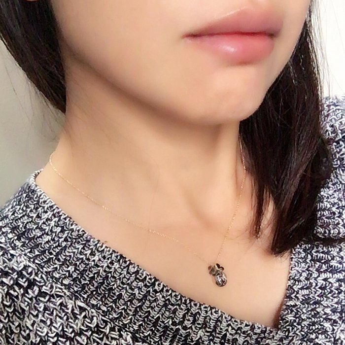 星葉石×秋色ストーンネックレス 着用画像