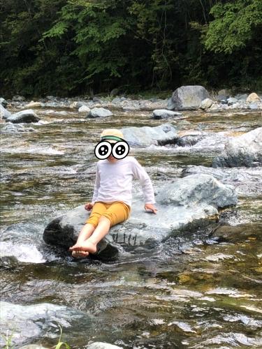 GW温泉川遊び