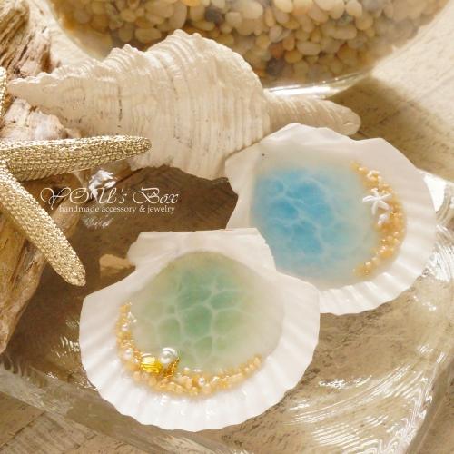 貝殻の中に自分だけの海を表現しよう