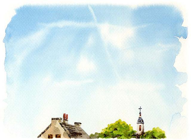 空 飛行機雲