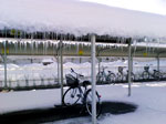 雪の駐輪場写真1