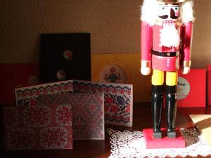 くるみ割り人形と毎年の刺繍カード
