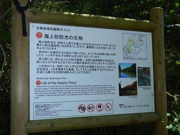 大正池の看板