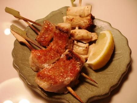 金目鯛の串焼き