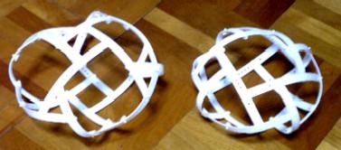 凧型8面体と四角反柱