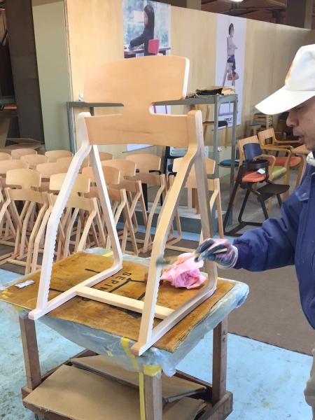 アップライトチェア工場豊橋木工訪問