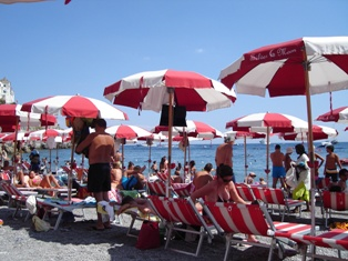 アマルフィのビーチ