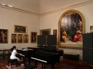 キジアーナ音楽院レッスン室