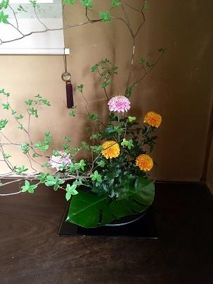 お座敷の花