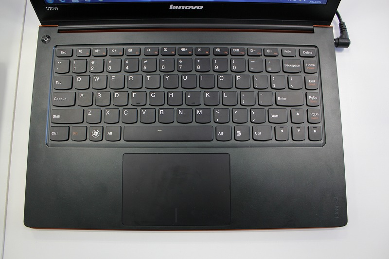 IdeaPad U300sのキーボード