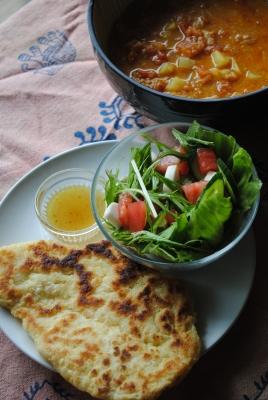 インド風カレーとナン