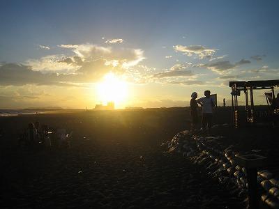 夕日がこの夏、一番綺麗だったって。