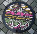 富士山デザイン 富士市マンホール蓋