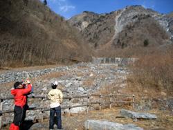初冬の大谷崩れ