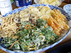 足久保の野菜の天ぷら