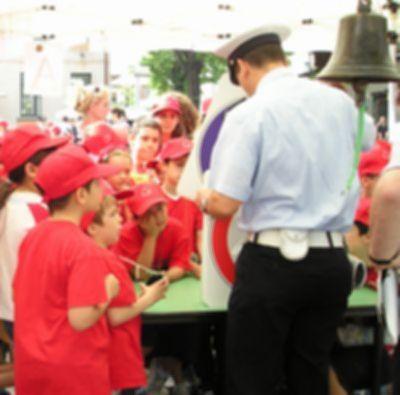 小学校の安全教室(ボカシをかけてあります)