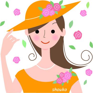 無料イラスト素材 帽子をかぶった女性 画像