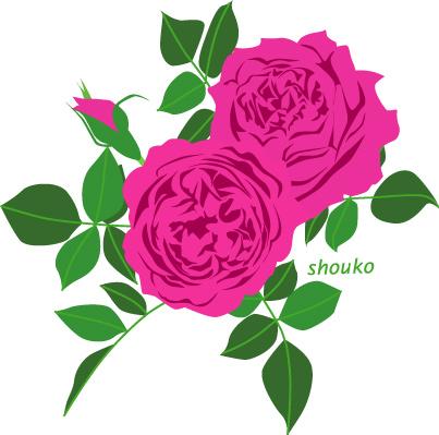 バラのイラスト 無料素材 フリーイラスト 花のイラスト